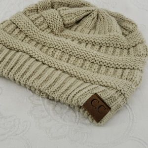 C. C Slouchy Knit Beanie